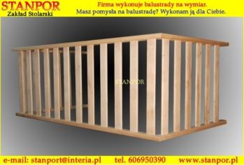 Balustrady balkonowe drewniane śląskie